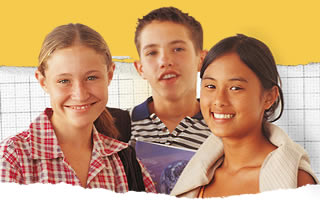photo d'un groupe d'écoliers